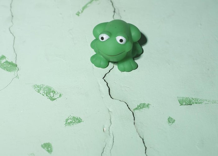 Weathermen Greeting Card featuring the photograph Green Frog by Bernard Jaubert