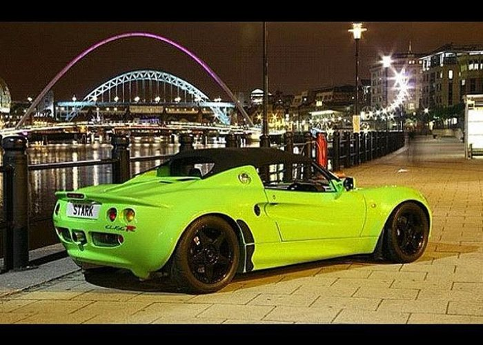 Sportscar Greeting Card Featuring The Photograph Green Machine #lotus #elise  #tuning By Exotic