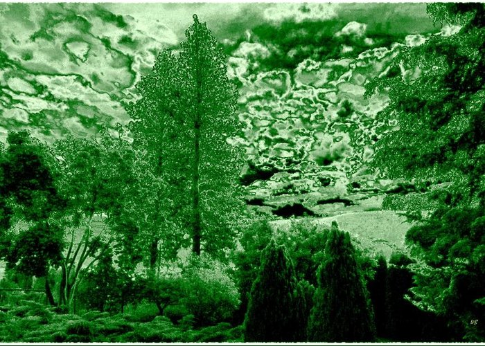 Green Zone Greeting Card featuring the digital art Green Zone by Will Borden