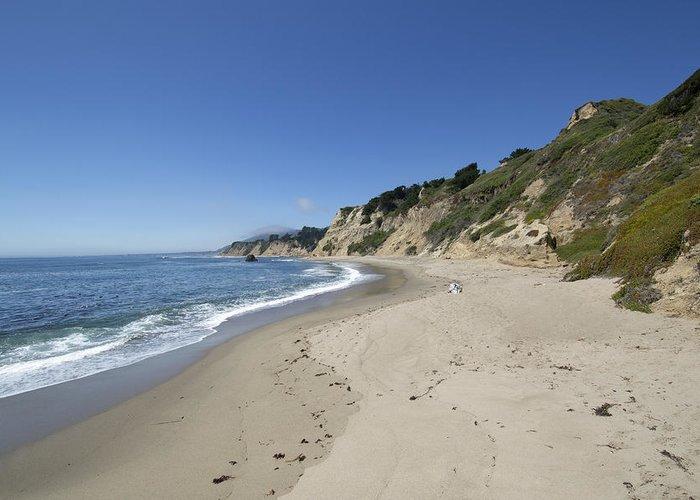 Greyhound Greeting Card featuring the photograph Greyhound Rock State Beach Panorama - Santa Cruz - California by Brendan Reals