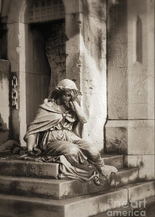B&w Greeting Card featuring the photograph Grief by John Greim