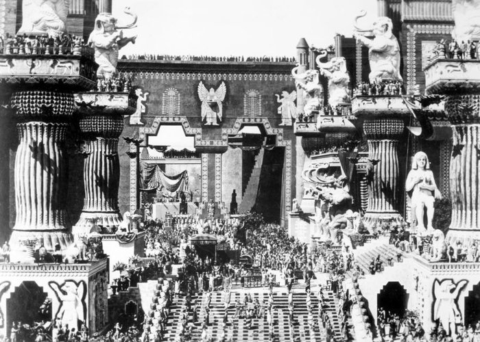 -ecq- Greeting Card featuring the photograph Griffith: Intolerance 1916 by Granger