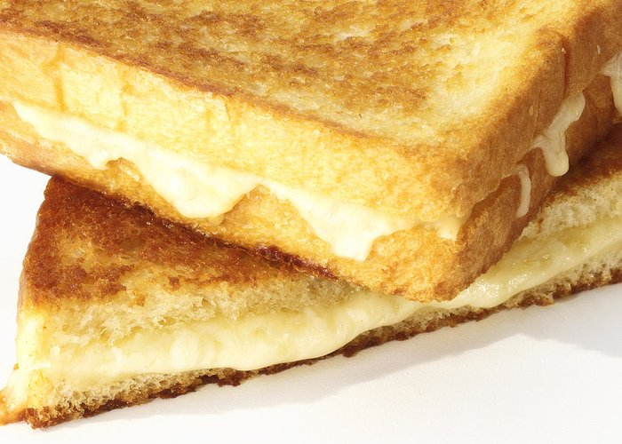 Cheese Greeting Card featuring the photograph Grilled Cheese Sandwich by Federico Arce