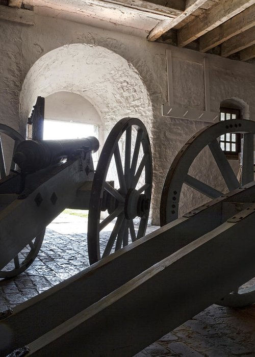 Old Fort Niagara Greeting Card featuring the photograph Ground Floor Cannons by Peter Chilelli