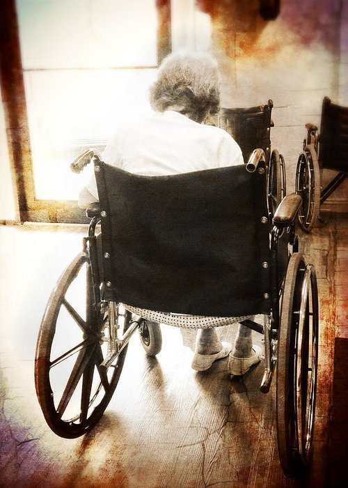 Wheelchair Greeting Card featuring the photograph Growing Old by Robert Smith