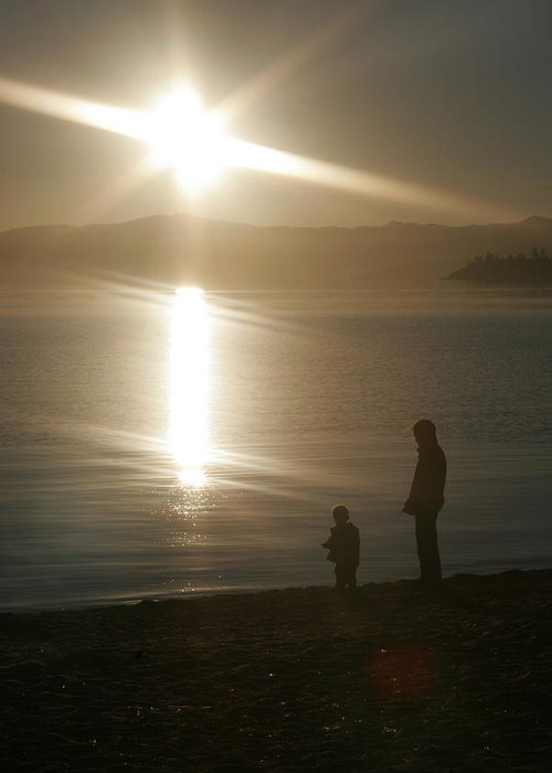 Lake Tahoe Greeting Card featuring the photograph Guiding Light by Adam Blankenship