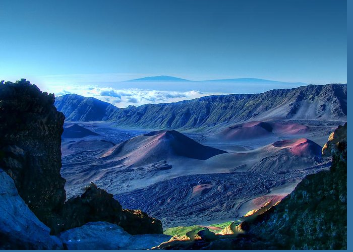 Haleakala Crater Greeting Card featuring the photograph Haleakala Crater 1 by Ken Smith