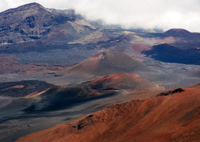Hawaii Photographs Greeting Card featuring the photograph Haleakala Volcano by C Sitton
