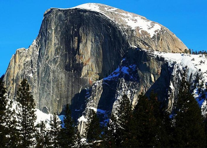 Yosemite National Park Greeting Card featuring the photograph Half Way Half Dome by Phil Cappiali Jr