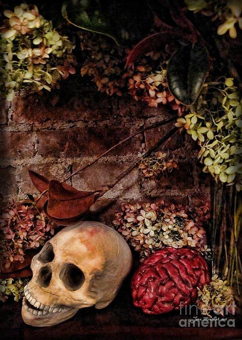 Halloween Greeting Card featuring the photograph Halloween Still Life by Joan Minchak