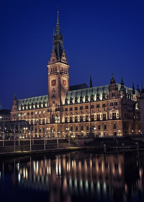 Germany Greeting Card featuring the photograph Hamburg City Hall by Benjamin Matthijs