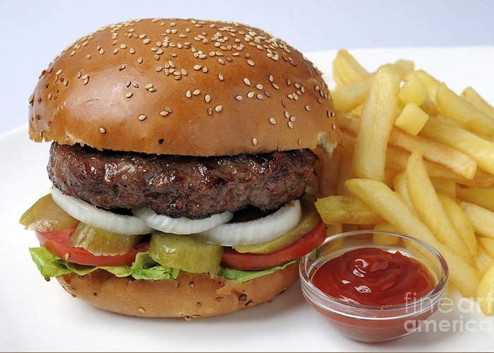 Burgers Greeting Card featuring the photograph Hamburger by Ilan Amihai