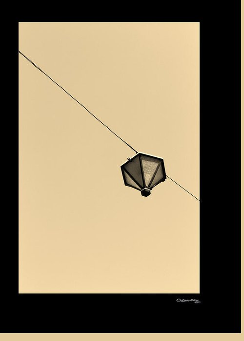 Hanging Light Greeting Card featuring the photograph Hanging Light by Xoanxo Cespon