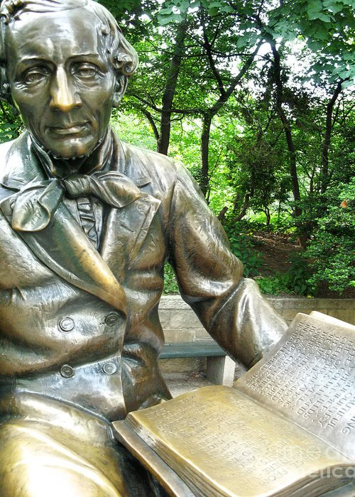 Central Park Greeting Card featuring the photograph Hans Christian Anderson by Anne Ferguson