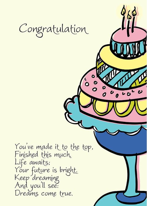 Happy Birthday Cake Greeting Card For Sale By Hulda Olafsdottir