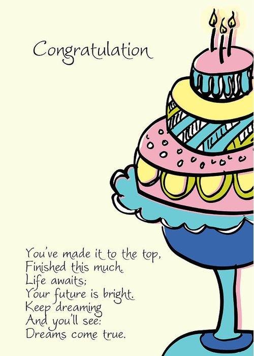 Happy Birthday Cake Greeting Card For Sale By Hulda Olafsdottir
