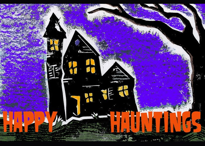 Excitement Greeting Card featuring the digital art Happy Hauntings by Jame Hayes