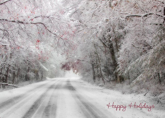 Happy Holidays Greeting Card featuring the photograph Happy Holidays - Clarks Valley by Lori Deiter