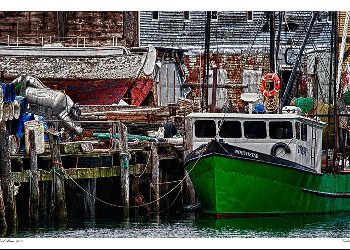Architecture Greeting Card featuring the photograph Harbor Dock by Richard Bean