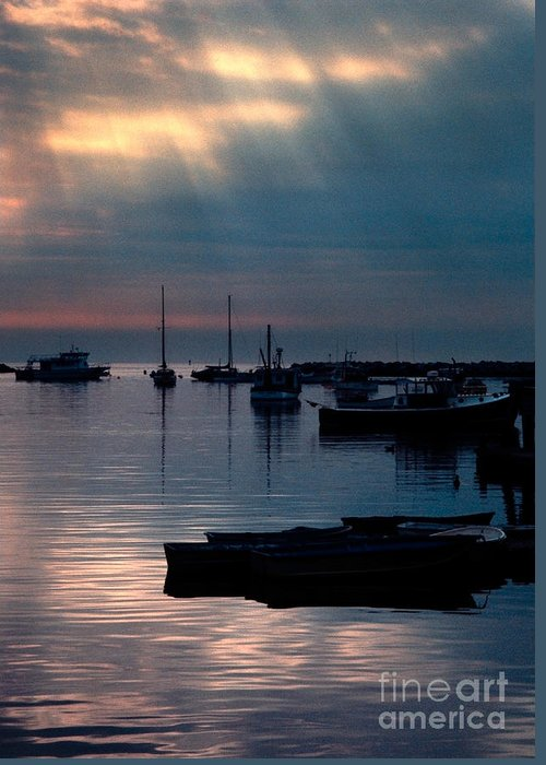 Greeting Card featuring the photograph Harbor Sunrise by Eli Horowitz