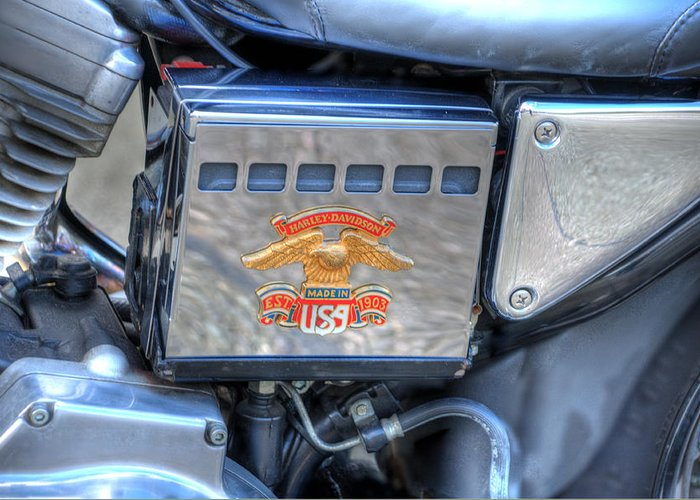 Harley Davidson Greeting Card featuring the photograph Harley Davidson 1 by Steve Purnell