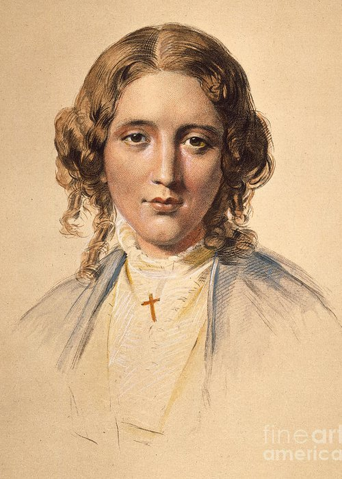 1853 Greeting Card featuring the photograph Harriet Beecher Stowe by Granger