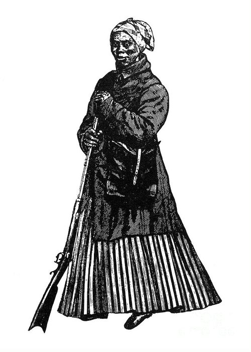 1850s Greeting Card featuring the photograph Harriet Tubman (c1823-1913) by Granger