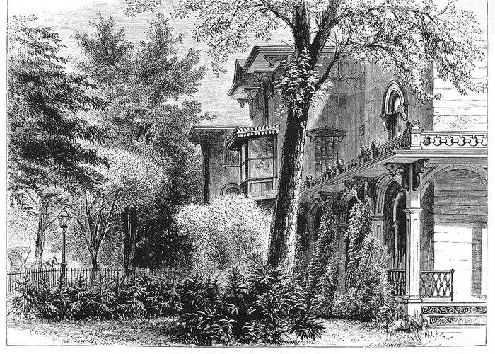 1876 Greeting Card featuring the photograph Hartford: Armsear Mansion by Granger