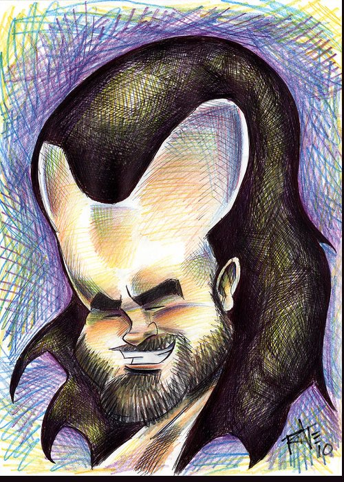 Big Mike Roate Greeting Card featuring the drawing Hasson The Artist by Big Mike Roate