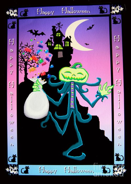 Haunted Greeting Card featuring the digital art Haunted House by Nick Gustafson
