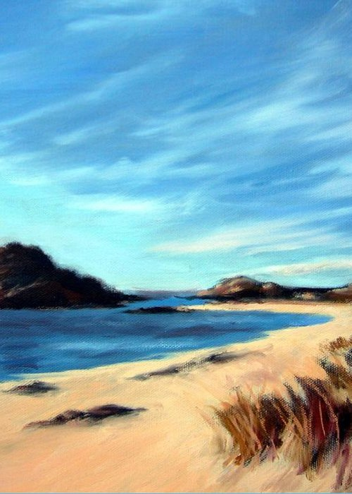 Havik Beach Greeting Card featuring the painting Havik Beach by Janet King