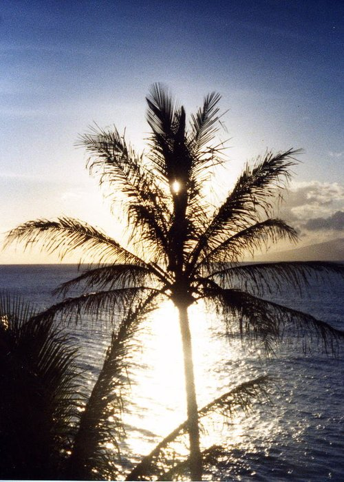 Photograph Greeting Card featuring the photograph Hawaiian Sunset by Debbie Poetsch