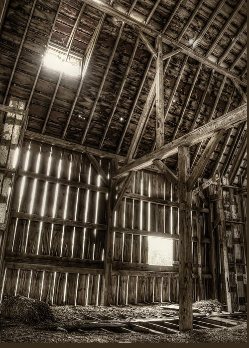 Barn Greeting Card featuring the photograph Hay Loft by Scott Norris