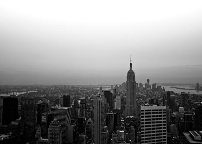New York Greeting Card featuring the photograph Hazy City Of New York by Heidi Reyher