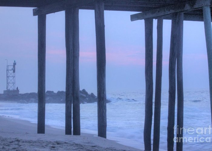 Hdr Greeting Card featuring the photograph Hdr Beach Pier Ocean Beaches Art Photos Pictures Buy Sell Selling New Pics Sea Seaview Scenic  by Pictures HDR