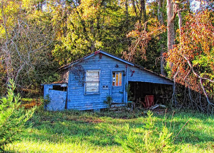 Hdr Greeting Card featuring the photograph Hdr- Shed by Joe Myeress