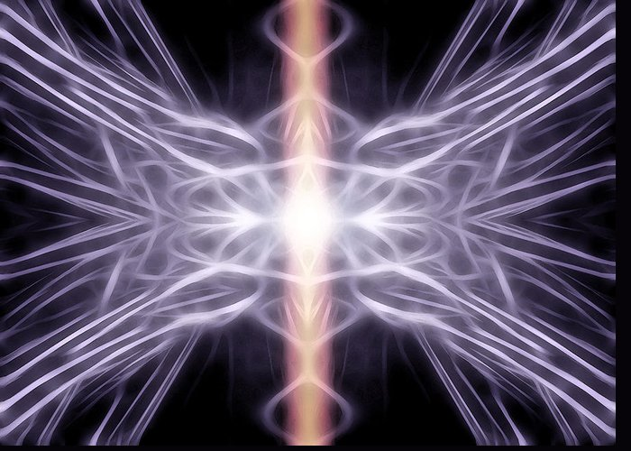 Light Greeting Card featuring the digital art Healing by Holly Ethan