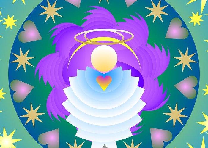 Digital Greeting Card featuring the digital art Heard On High 2011 by Kathryn Strick