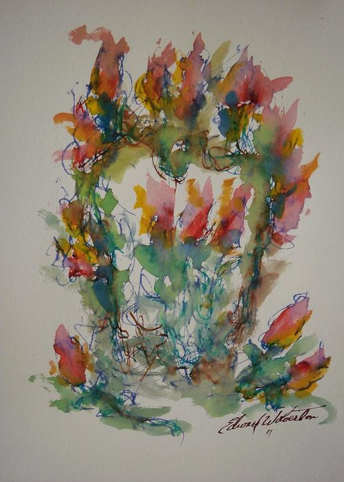 Hearts On Fire Greeting Card featuring the painting Heart Embrace by Edward Wolverton