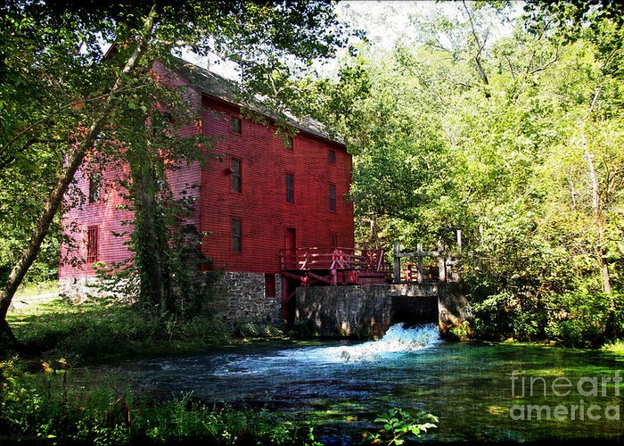 Riverbank Greeting Card featuring the photograph Heart Of The Ozarks by Lianne Schneider