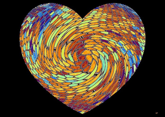 Heart Greeting Card featuring the digital art Heartline 8 by Will Borden