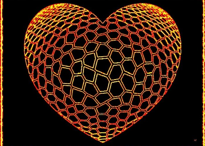 Heart Greeting Card featuring the digital art Heartline 9 by Will Borden