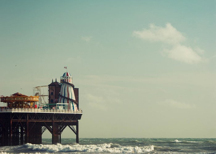 Helter-skelter Greeting Card featuring the photograph Helter-skelter On Brighton Pier by Paul Grand