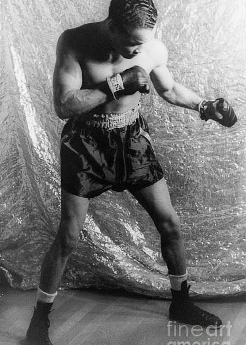 1937 Greeting Card featuring the photograph Henry Armstrong (1912-1988) by Granger
