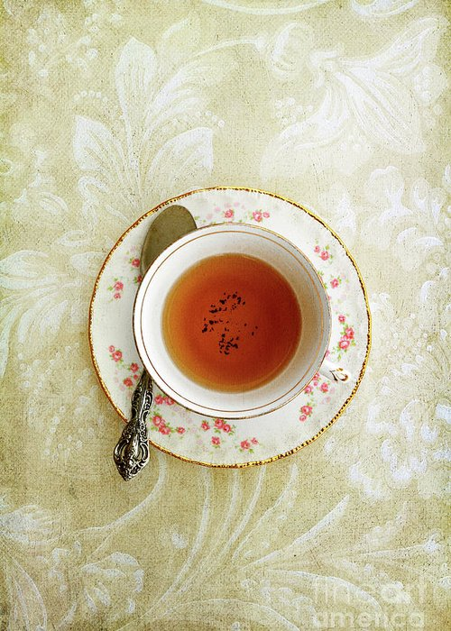 Victorian Greeting Card featuring the photograph Herbal Tea by Stephanie Frey