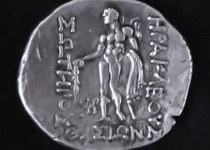 Ancient Greek Coin Greeting Card featuring the relief Hercules by Unknown
