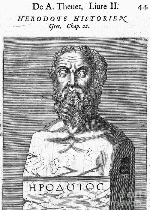 5th Century B.c Greeting Card featuring the photograph Herodotus by Granger