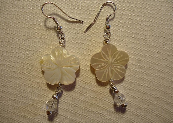 Greenworldalaska Greeting Card featuring the photograph Hibiscus Hawaii Flower Earrings by Jenna Green