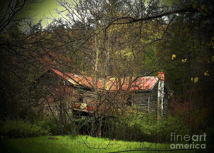 Spring Greeting Card featuring the photograph Hidden House In Spring by Joyce Kimble Smith