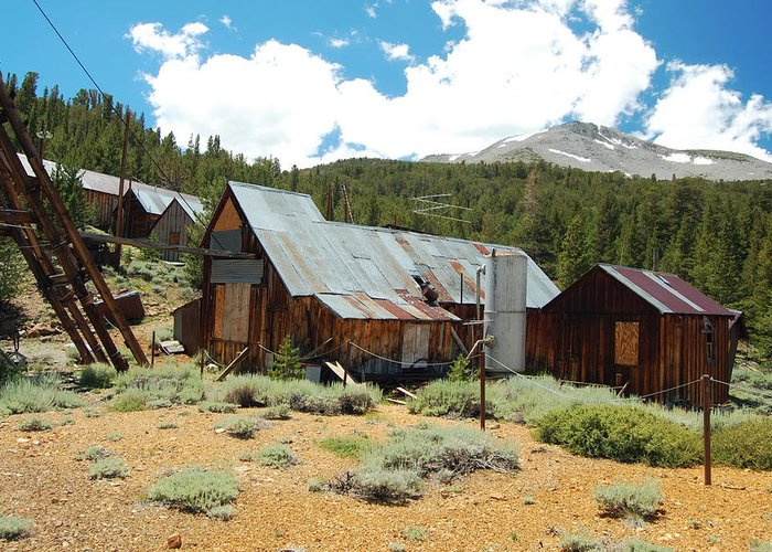 Ghost Town Photos Greeting Card featuring the photograph Hidden Mine In The Mountains by Kirk Williams
